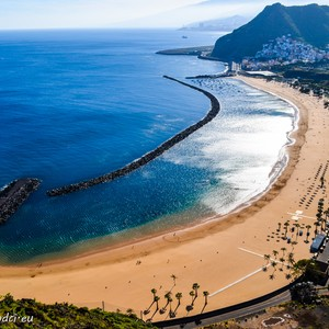 Pláž La Teresitas, Tenerife, Kanárské Ostrovy