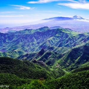 Vyhlídka z parku Anaga, Tenerife, Kanárské Ostrovy